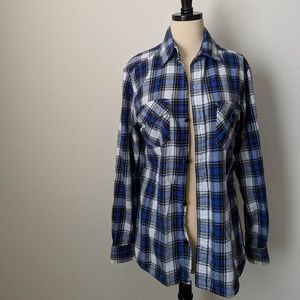 VINTAGE • Gilevans Flannel Button Down Long Sleeve